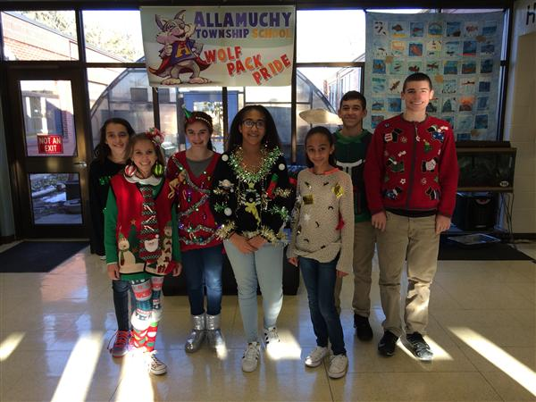Allamuchy Township School 6-8 Ugly Sweater