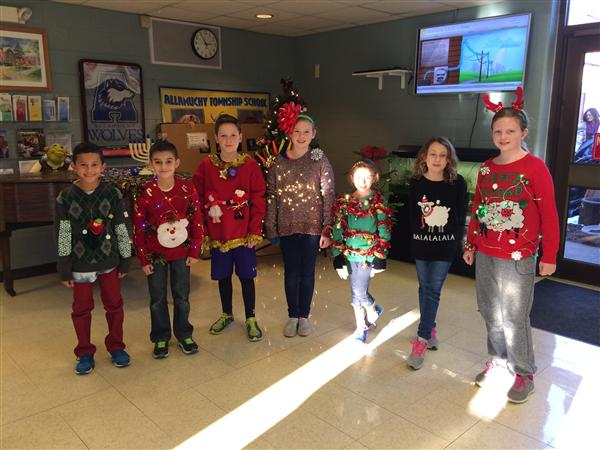 Allamuchy Township School 3-5 Ugly Sweater