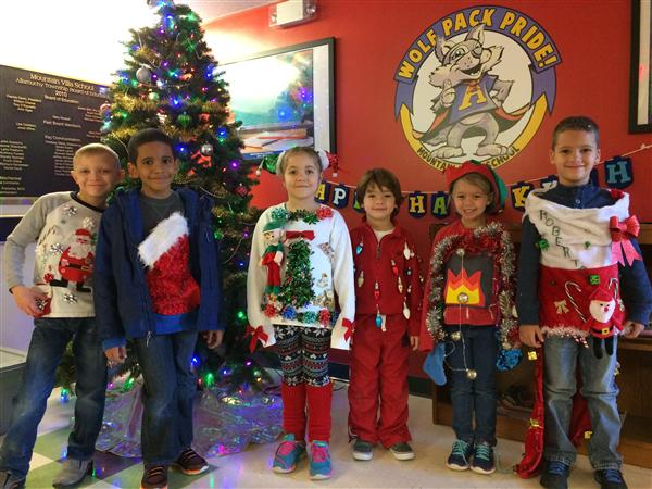 Mountain Villa School Ugly Sweater Day