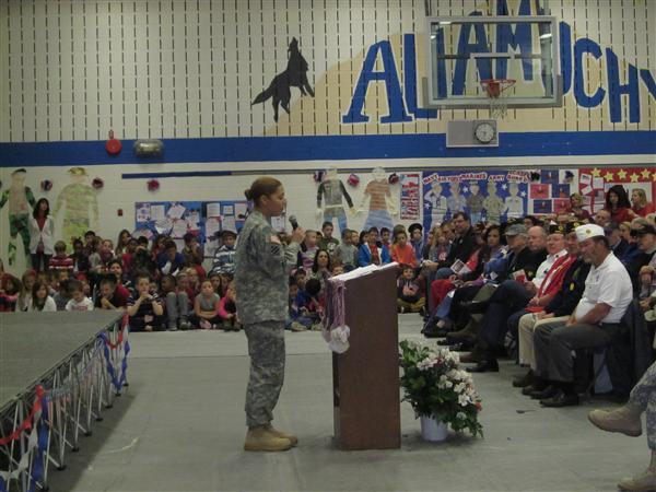 ALLAMUCHY STUDENTS HONOR VETS